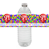 91ST BALLOON BLAST WATER BOTTLE LABEL PARTY SUPPLIES