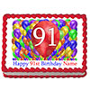 91ST BIRTHDAY BALLOON BLAST EDIBLE IMAGE PARTY SUPPLIES