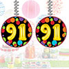 91ST BIRTHDAY BALLOON DANGLER PARTY SUPPLIES