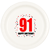 91ST BIRTHDAY DINNER PLATE 8-PKG PARTY SUPPLIES