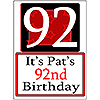 PERSONALIZED 92 YEAR OLD YARD SIGN PARTY SUPPLIES