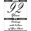 92 YEARS CLASSY BLACK DOOR BANNER PARTY SUPPLIES