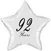 92 YEARS CLASSY BLACK STAR BALLOON PARTY SUPPLIES