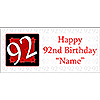 PERSONALIZED 92 YEAR OLD BANNER PARTY SUPPLIES