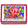92ND BIRTHDAY BALLOON BLAST EDIBLE IMAGE PARTY SUPPLIES