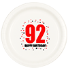 92ND BIRTHDAY DINNER PLATE 8-PKG PARTY SUPPLIES
