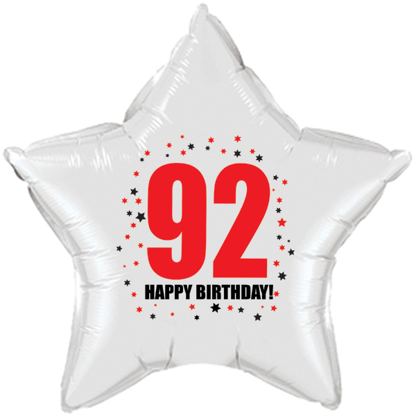 Click For Larger Picture Of 92ND BIRTHDAY STAR BALLOON PARTY SUPPLIES