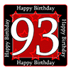 93RD BIRTHDAY COASTER PARTY SUPPLIES