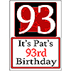 PERSONALIZED 93 YEAR OLD YARD SIGN PARTY SUPPLIES