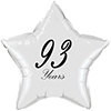 93 YEARS CLASSY BLACK STAR BALLOON PARTY SUPPLIES
