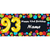 BALLOON 93RD BIRTHDAY CUSTOMIZED BANNER PARTY SUPPLIES