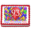 93RD BIRTHDAY BALLOON BLAST EDIBLE IMAGE PARTY SUPPLIES