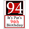 PERSONALIZED 94 YEAR OLD YARD SIGN PARTY SUPPLIES