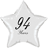 94 YEARS CLASSY BLACK STAR BALLOON PARTY SUPPLIES