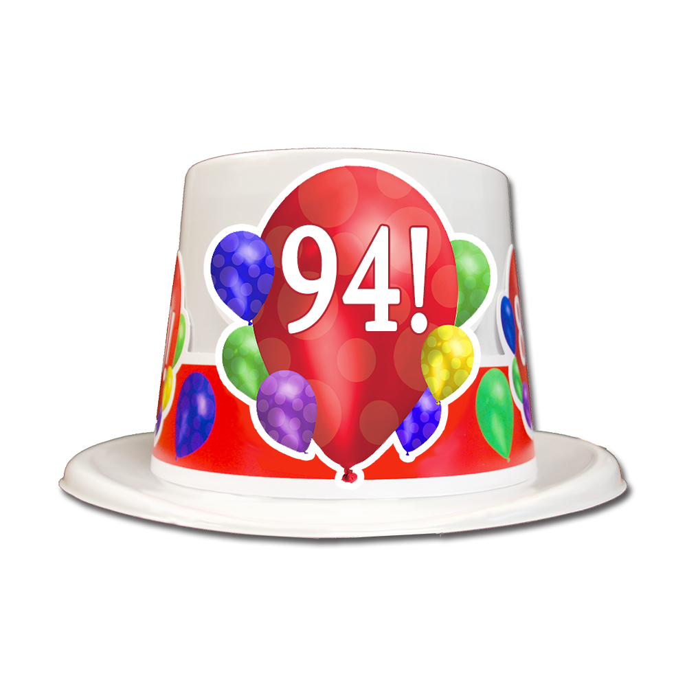 Click For Larger Picture Of 94TH BIRTHDAY BALLOON BLAST TOP HAT PARTY SUPPLIES