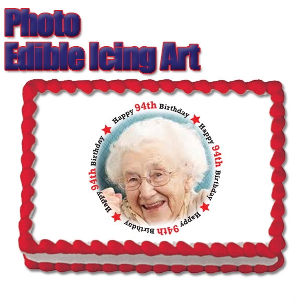 Click For Larger Picture Of 94TH BIRTHDAY PHOTO EDIBLE ICING ART PARTY SUPPLIES