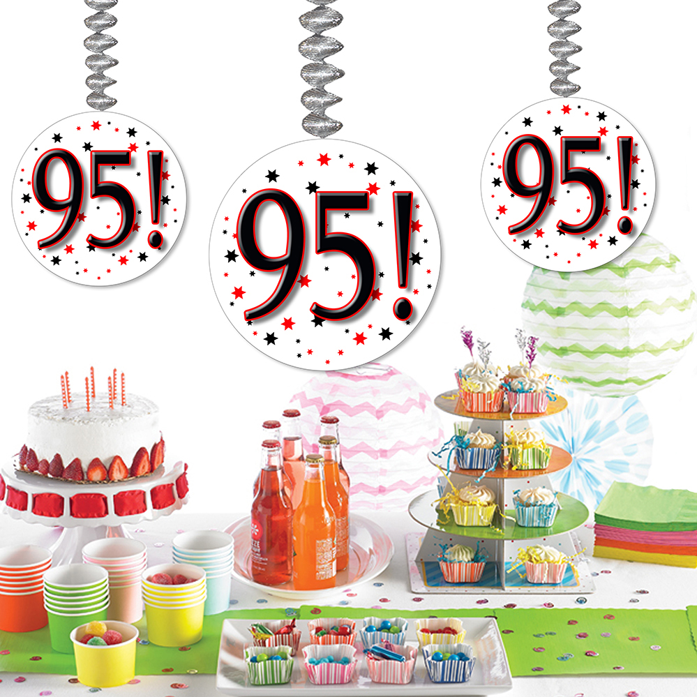 95th birthday party supplies 95 dangler For95 Decoration