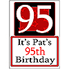 PERSONALIZED 95 YEAR OLD YARD SIGN PARTY SUPPLIES