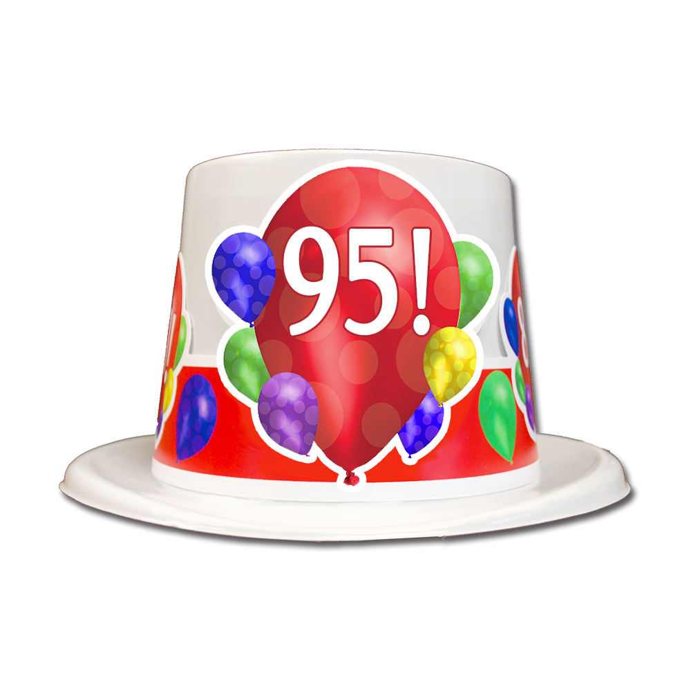 Click For Larger Picture Of 95TH BIRTHDAY BALLOON BLAST TOP HAT PARTY SUPPLIES