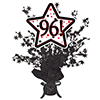96! BLACK STAR CENTERPIECE PARTY SUPPLIES