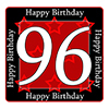 96TH BIRTHDAY COASTER PARTY SUPPLIES
