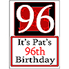 PERSONALIZED 96 YEAR OLD YARD SIGN PARTY SUPPLIES
