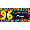 BALLOON 96TH BIRTHDAY CUSTOMIZED BANNER PARTY SUPPLIES