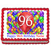96TH BIRTHDAY BALLOON BLAST EDIBLE IMAGE PARTY SUPPLIES