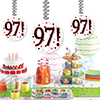 97! DANGLER DECORATION 3/PKG PARTY SUPPLIES