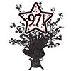 97! BLACK STAR CENTERPIECE PARTY SUPPLIES