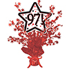 97! RED STAR CENTERPIECE PARTY SUPPLIES