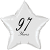 97 YEARS CLASSY BLACK STAR BALLOON PARTY SUPPLIES