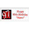 PERSONALIZED 97 YEAR OLD BANNER PARTY SUPPLIES