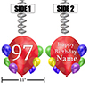 97TH BALLOON BLAST JUMBO CUSTOM DANGLER PARTY SUPPLIES