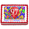 97TH BIRTHDAY BALLOON BLAST EDIBLE IMAGE PARTY SUPPLIES