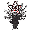 98! BLACK STAR CENTERPIECE PARTY SUPPLIES