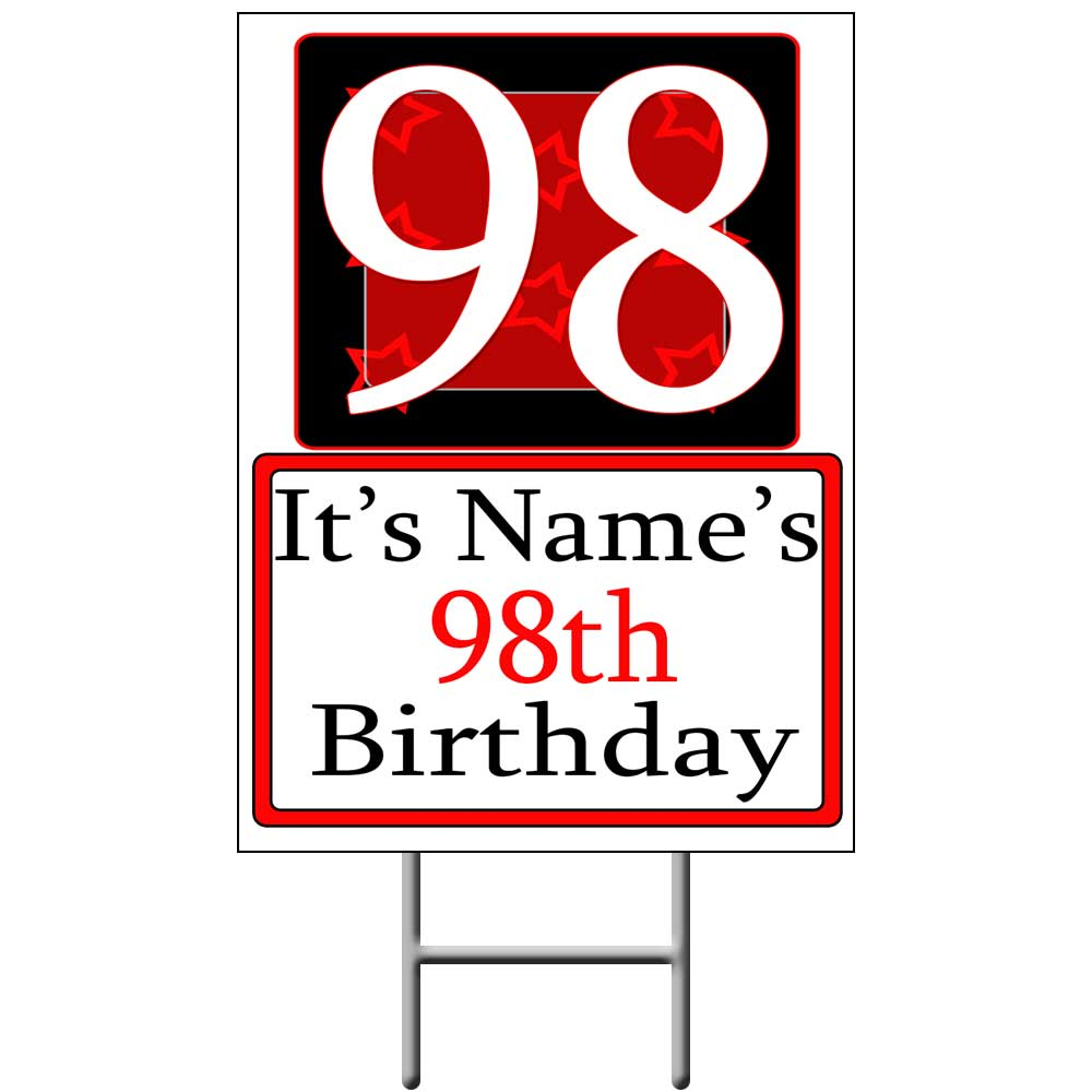 98 Happy Birthday Party Supplies