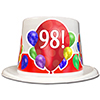 98TH BIRTHDAY BALLOON BLAST TOP HAT PARTY SUPPLIES