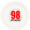 98TH BIRTHDAY DINNER PLATE 8-PKG PARTY SUPPLIES