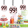99! DANGLER DECORATION 3/PKG PARTY SUPPLIES