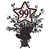99! BLACK STAR CENTERPIECE PARTY SUPPLIES