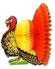Click for larger picture of TURKEY CENTERPIECE 9IN. PARTY SUPPLIES