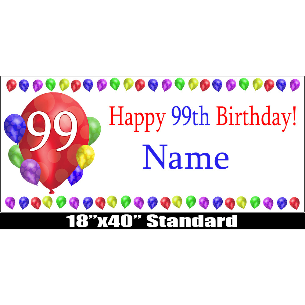 99 happy birthday party supplies 99th birthday balloon blast name