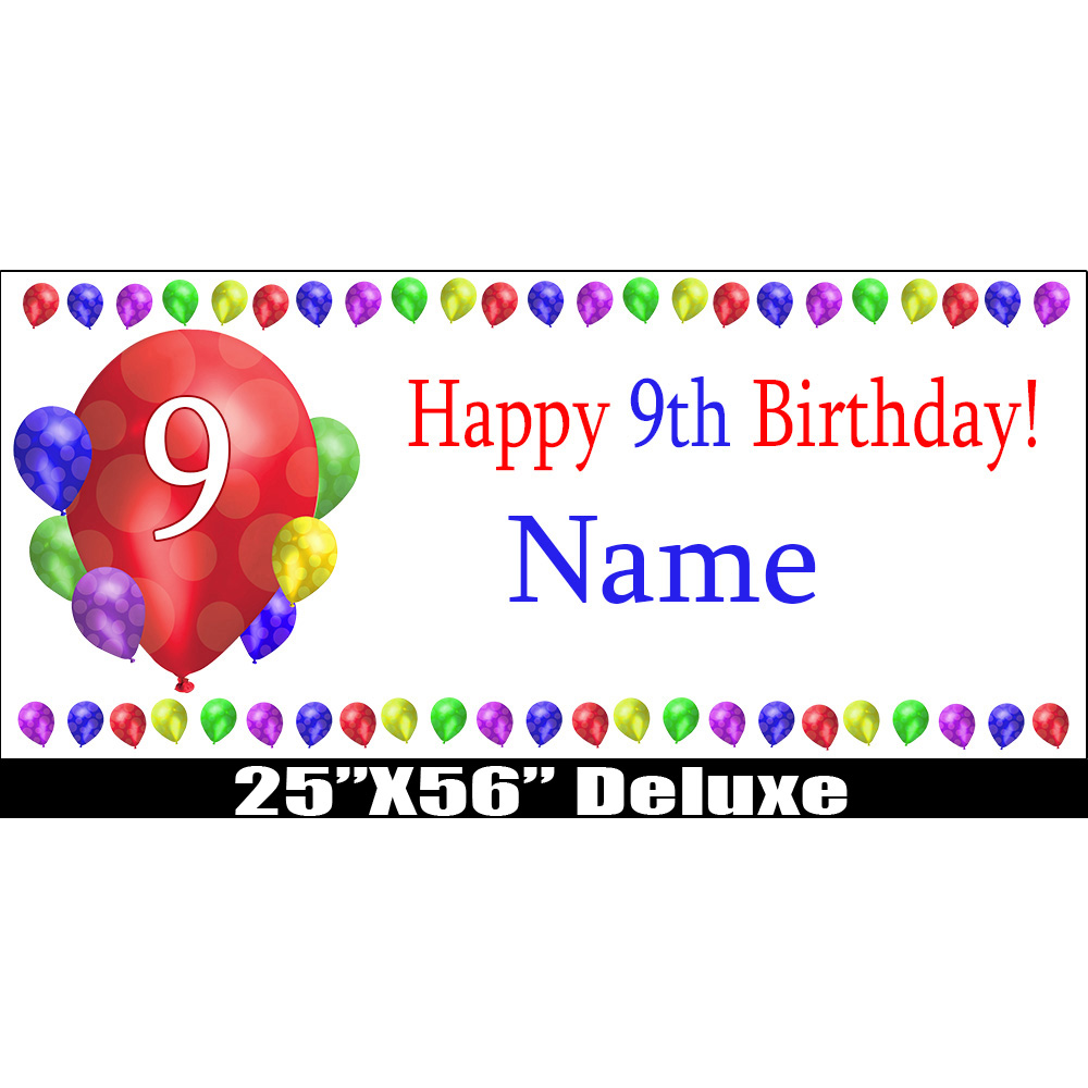 Click For Larger Picture Of 9TH BIRTHDAY BALLOON BLAST DELUX BANNER PARTY SUPPLIES