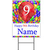 9TH CUSTOMIZED BALLOON BLAST YARD SIGN PARTY SUPPLIES