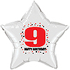 9TH BIRTHDAY STAR BALLOON PARTY SUPPLIES