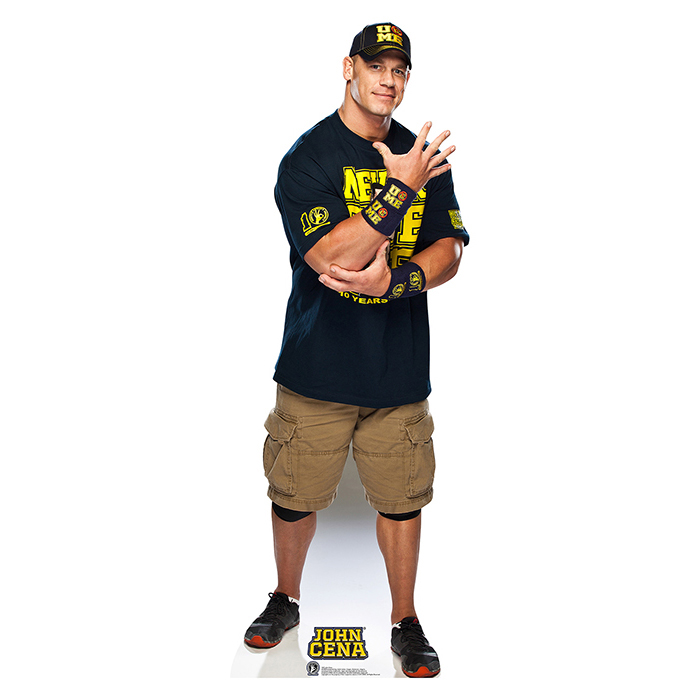 JOHN CENA NAVY AND GOLD SHIRT ON - WWE PARTY SUPPLIES