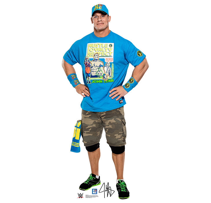 JOHN CENA LIGHT BLUE SHIRT - WWE PARTY SUPPLIES