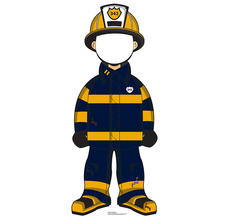 CARTOON FIREMAN STANDIN PARTY SUPPLIES