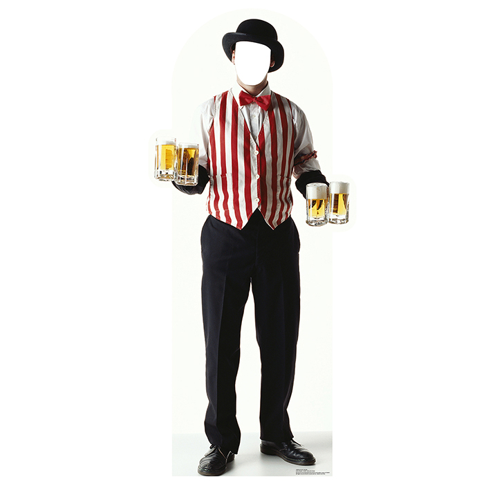 CARNIVAL BARTENDER STANDIN PARTY SUPPLIES